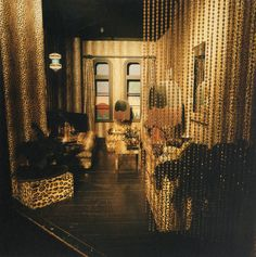 Biba ~ London's Lost Department Store of the Swinging Sixties | Messy Nessy Chic ~ Nightwear and lingerie were sold on a boudoir platform complete with a bed, nightstand and wardrobe. The communal changing rooms were Egyptian themed and held marvellous Amun-Ra mirrors.