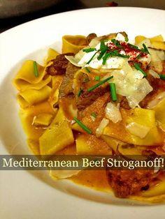 Chef Cathy Pavlos of Lucca Cafe's Mediterranean Stroganoff