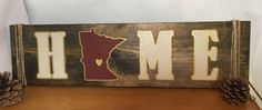 Painted long MN signs by MegsMNCrafts on Etsy