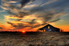 Old Barn at Sunset in Pawhuska, Oklahoma