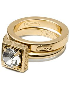 COACH STONE STACKING RING - Coach Jewelry - Handbags & Accessories - Macy's