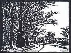 Картина панно рисунок Вырезание Зимний лес Бумага