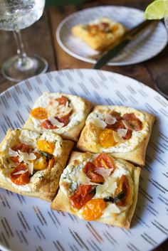 Cherry Tomato Ricotta Puff Pastry Pizette | Late Afternoon Blog