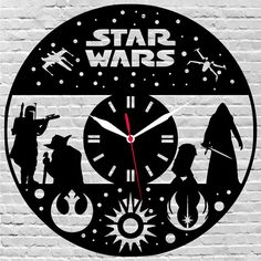 29$ wooden wall clock $Starwars, #Gifts, #Christmasgiftideas, #Christmas  by lovelygift4you