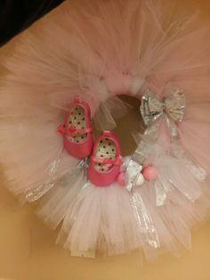 Babygirl theme tulle wreath