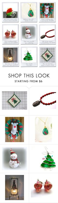 """Christmas Gifts on Etsy"" by oxysfinecrafts ❤ liked on Polyvore"