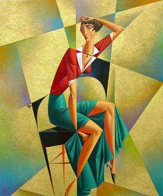 Artist Georgy Kurasov, the painter, the sculptor Cubist Artists, Cubism Art, Margaret Atwood, Abstract Painters, Abstract Art, Modern Art, Contemporary Art, Art Deco Paintings, Russian Art