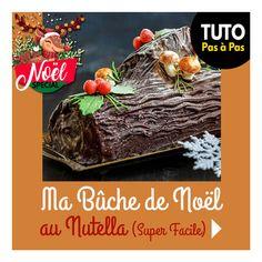 RentréeDiscount - Le Blog : Tuto spécial Noël - Ma bûche de Noël au Nutella trop facile ! Alternative, Beef, Desserts, Christmas, Food, Bon Appetit, Meat, Tailgate Desserts, Xmas