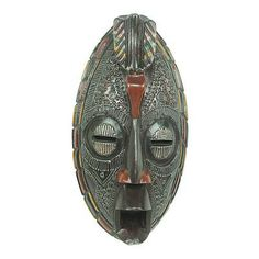 Colorful Ashanti African Mask - Ashanti Linking Bird | NOVICA