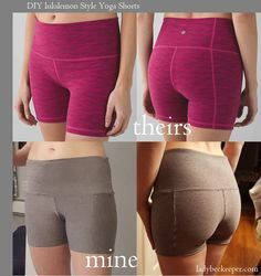 This post may contain affiliate links. This Yoga Pants Pattern was inspired by the Lululemon Yoga Shorts. These shorts are high waisted and very comfortable. There are three pattern pieces and… Yoga Pants Pattern, Pants Pattern Free, Pattern Shorts, Free Pattern, Sewing Patterns Free, Free Sewing, Clothing Patterns, Sewing Tips, Shirt Patterns