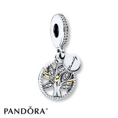 PANDORA Dangle Charm Family Heritage Sterling Silver/14K Gold