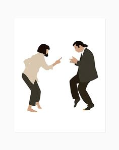 Pulp Fiction Poster Minimalist Art Pulp Fiction Print Movie