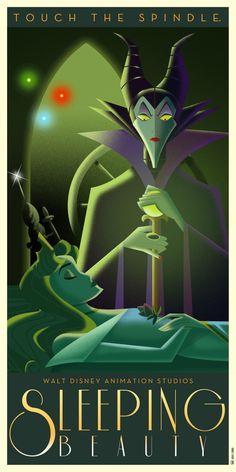 Sleeping Beauty Art Deco poster by Chernin on DeviantArt