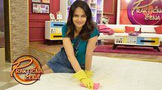 Praktična žena - Pranje dušeka i skidanje fleka - YouTube