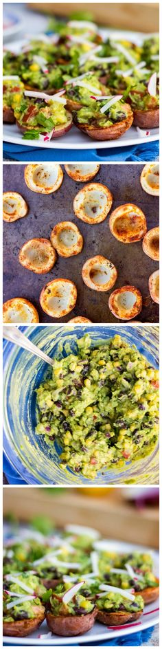 These Roasted Potato Cups with Loaded Guacamole are the perfect little appetizers!