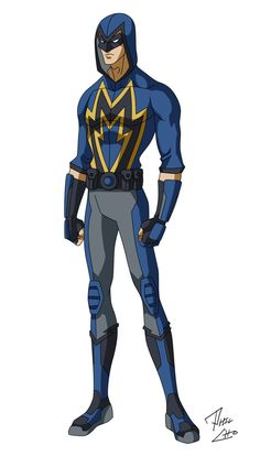 Commissioned by Chris Hall [link] Mega Thunder - OC Commission Superhero Suits, Superhero Characters, Superhero Design, Fantasy Characters, Dnd Characters, Alien Character, Character Creation, Comic Character, Character Concept