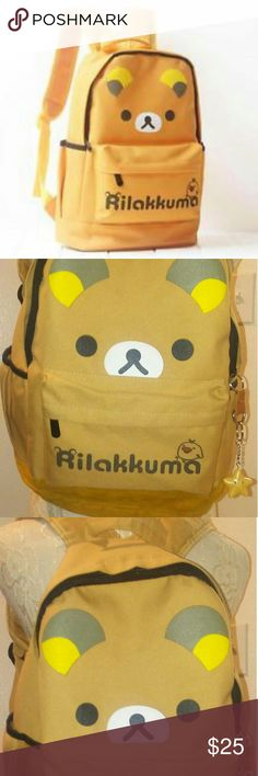 Bundle backpacks! Kawaii rilakkuma and lila polka Super cute backpacks. The rilakkuma is in perfect condition she only wore twice or more but looks great! And the purple is also in good condition. korean style unknown Bags Backpacks