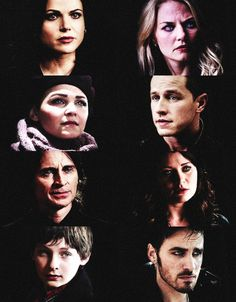 Once Upon A Time: Regina, Emma, Snow, Charming, Rumple, Belle, Henry, & Hook.