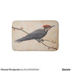 Pileated Woodpecker Bath Mat