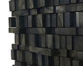 Wall Sculpture - Black Midnight Wood Blocks