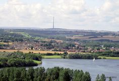 Emley Moor Mast From Sandal Castle    Wakefield.Yorkshire, England. UK