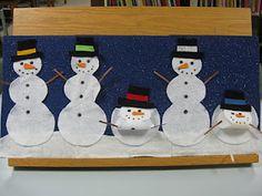 Five melting snowman