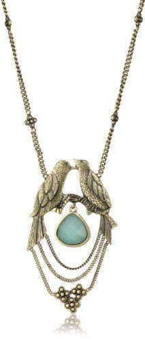 Lucky Brand Large Kissing Birds Necklace