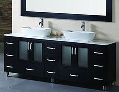 Special Offers - Design Element Stanton Double Vessel Sink Vanity Set with Espresso Finsh 72-Inch Review - In stock & Free Shipping. You can save more money! Check It (January 04 2017 at 08:24AM) >> http://bathvanitiesusa.net/design-element-stanton-double-vessel-sink-vanity-set-with-espresso-finsh-72-inch-review/