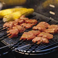 Recept - Spiesen van varkenshaas in mosterdmarinade - Allerhande