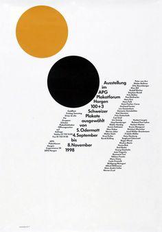 Siegfried Odermatt, Ausstellung im APG Plakatforum Horgen, 1998