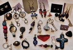 Jewelry Lot ALL New Store bought and Handmade Mixed Metals, Stones, Material #Handmade