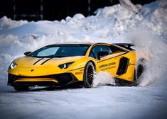 Repost via Instagram: Yes this is real and it's absolutely stunning.  #Lamborghini #AventadorSV #winter #LamboAccademia by lamborghini