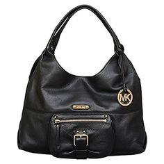 Michael Kors Austin Leather Large Shoulder Tote Bag, Black, Women's