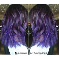 Pretty in Purple. Love this purple hair color dimensional design and textured haircut by Jonah Crescencio hotonbeauty.com