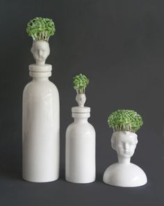 Cress Head- the little cress head is just beautiful, a perfect size to sit on the smallest of windowsill