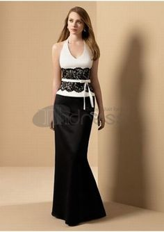 Elegant long bridesmaid dress