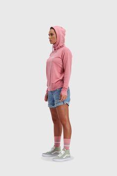 Mons Royale Women's Covert Lite Funnel Hood - Merino & Tencel - Weekendbee - sustainable sportswear Sportswear, Rain Jacket, Windbreaker, Hoodies, Women, Fashion, Moda, Sweatshirts, Fashion Styles