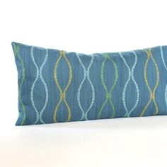 Lumbar Throw Pillow Cover - Blue Hourglass - Oblong - Decorative Pillow Cover - 12x24 12x21 12x18 12x16 10x20 by couchdwellers on Etsy https://www.etsy.com/transaction/1058709386