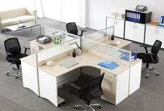 ▷ Islas de trabajo en formica para oficinas Exterior Design, Interior And Exterior, Green Office, Office Decor, Corner Desk, Table, Armenia, Furniture, Home Decor