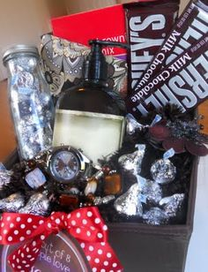 I almost did want to repin this because I wanted people to think I was this clever on my own...this blog has tons of clever gift basket ideas