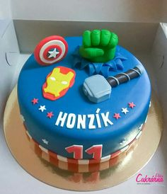 Avengers, Birthday Cake, Cupcakes, Food, Cupcake Cakes, Birthday Cakes, Essen, The Avengers, Meals