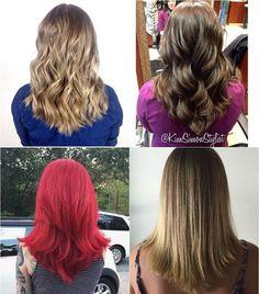 medium V-haircuts for thick hair