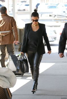 Leather pants & gold