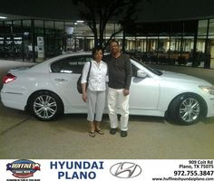 #HappyAnniversary to Donnie and Thomas Moore on your 2011 #Hyundai #Genesis from Everyone at Huffines Hyundai Plano!