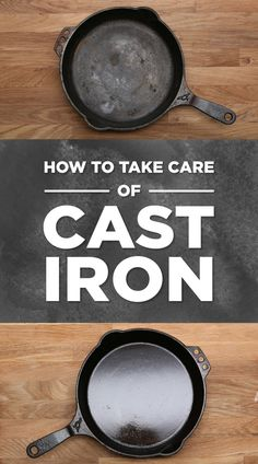 Everything You Need To Know About Cooking With Cast-Iron Pans. One of the best instructional videos about the how and why of cast iron skillet care/use I've seen. Cast Iron Skillet Cooking, Iron Skillet Recipes, Cast Iron Recipes, Cooking With Cast Iron, Season Cast Iron Skillet, Skillet Food, Skillet Pan, Skillet Meals, Dutch Oven Cooking