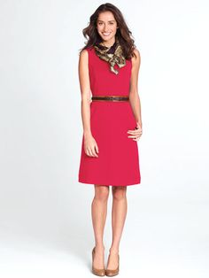 In Your 40s: The Sheath Dress  The perfect dress for daytime a small sweater over it or for evening a lovely jacket.