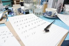 Beginner's calligraphy with A L'aise