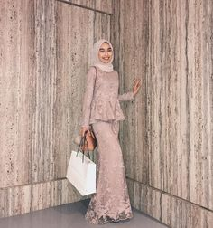 Latest Baju Kurung : I think i just blended in with the wall? Thank you # Latest Baju Kurung : I think i just blended in with the wall? Thank you # Kebaya Modern Hijab, Model Kebaya Modern, Kebaya Hijab, Kebaya Dress, Kebaya Muslim, Muslim Dress, Dress Brokat, Hijab Prom Dress, Hijab Gown