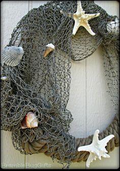 Sea Shell Beach Wreath Nautical Decor Lake House Decor Beach Decor Lake House…