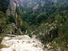Trekking per la cascata di S'Ega Sizzoris, Monte Linas, Sardegna